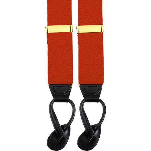 Army Suspenders: Signal - leather ends