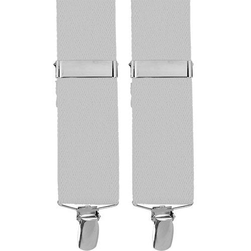 Air Force Suspenders with Clip Ends - white