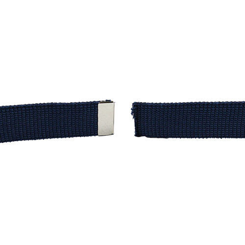 Air Force Belt: Blue Cotton Web with Mirror Finish Tip