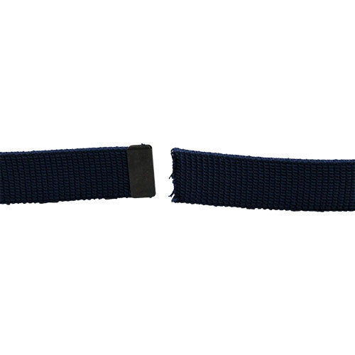 Air Force Belt: Blue Cotton with Black Tip