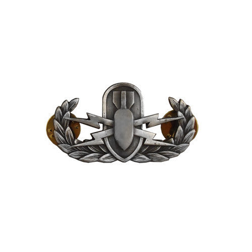 Badge: Explosive Ordnance Disposal - miniature, oxidized