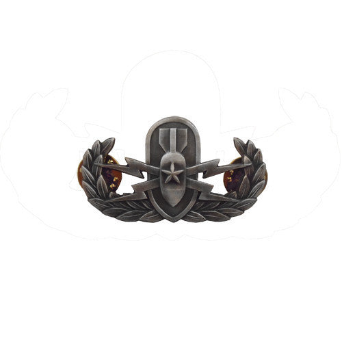 Badge: Senior Explosive Ordnance Disposal - miniature, oxidized