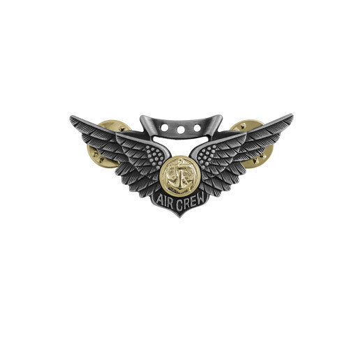 Navy Badge: Combat Air Crew - miniature, oxidized
