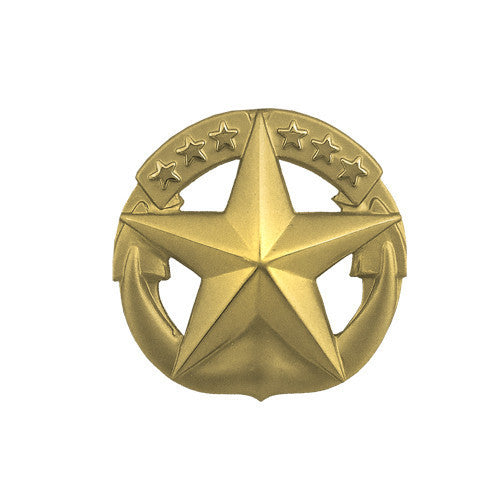 Navy Badge: Command at Sea - miniature, gold matte finish