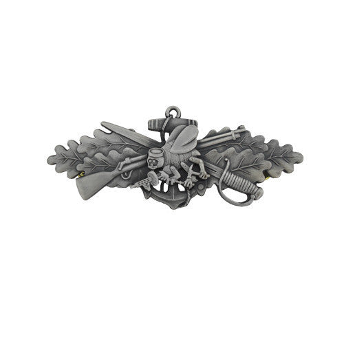 Navy Badge: Seabee Combat Warfare Special Enlisted - miniature, oxidized