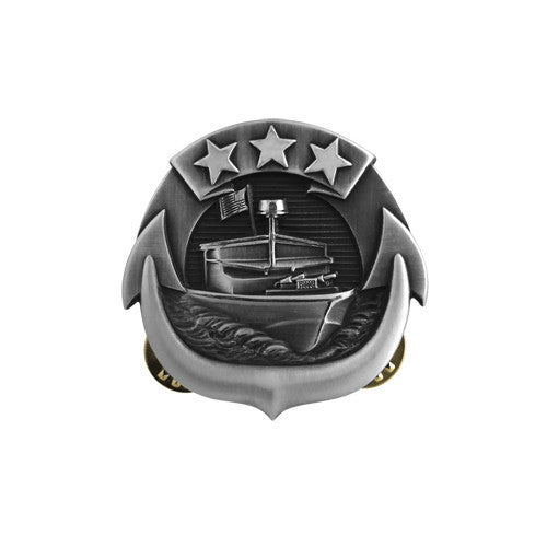 Navy Badge: Small Craft Enlisted - miniature, oxidized