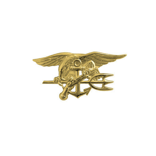 Navy Badge: Special Warfare - miniature, gold matte finish