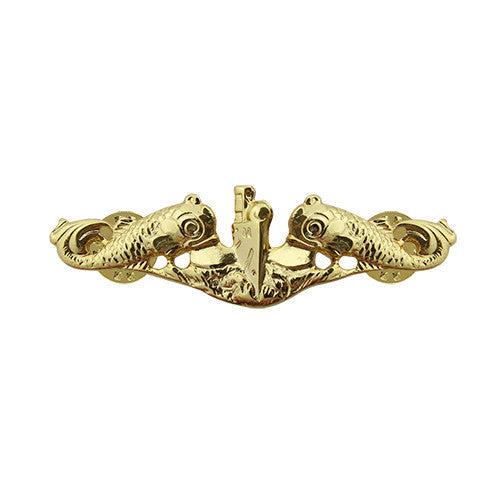Navy Badge: Submarine Officer - miniature, mirror finish