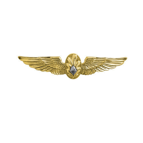 Navy Badge: Flight Surgeon - miniature, mirror finish