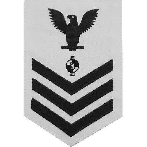 Navy E6 Rating Badge: Engineering Aide - white