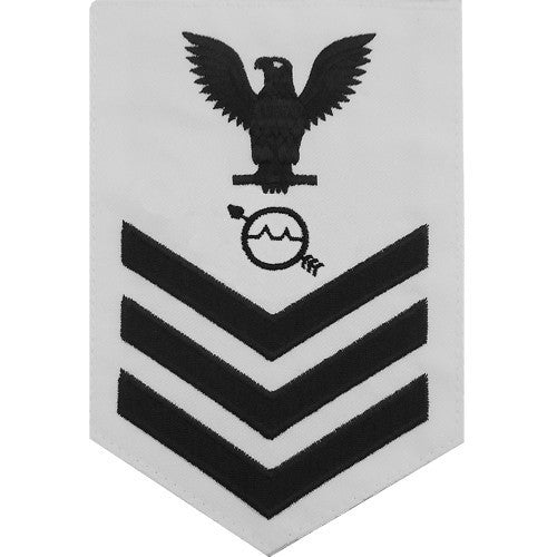 Navy E6 Rating Badge: Operations Specialist - white