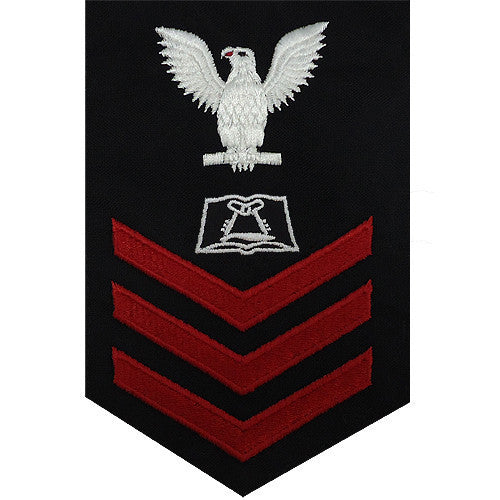 Navy E6 FEMALE Rating Badge: Culinary Specialist - blue