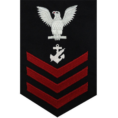 Navy E6 FEMALE Rating Badge: Navy Counselor - blue