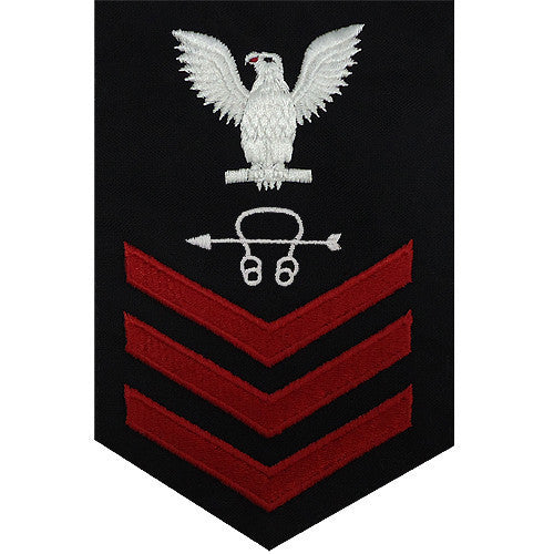 Navy E6 FEMALE Rating Badge: Sonar Technician - blue