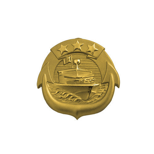 Navy Badge: Small Craft Officer - miniature, mirror finish