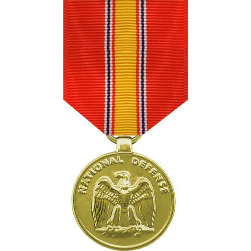 Full Size Medal: National Defense - 24k Gold Plated