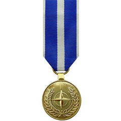 Miniature Medal- 24k Gold Plated: NATO Kosovo Medal