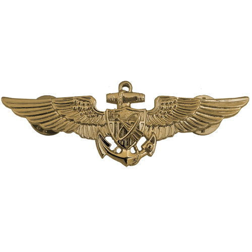 Navy Badge: Astronaut Aviator - regulation size