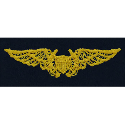 Navy Embroidered Badge: Naval Flight Officer - embroidered on coverall