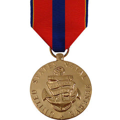 Full Size Medal: Navy Reserve Meritorious Service - 24k Gold Plated