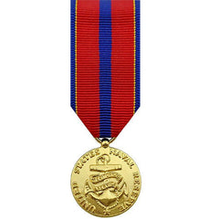 Miniature Medal- 24k Gold Plated: Navy Reserve Meritorious Service