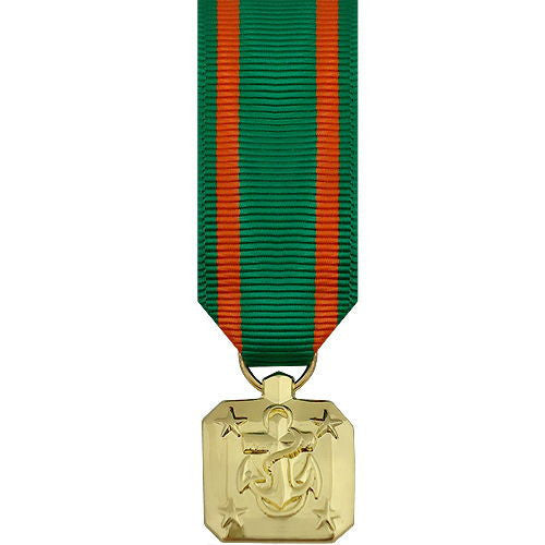 Miniature Medal- 24k Gold Plated: Navy and Marine Corps Achievement