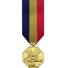 Miniature Medal: Navy and Marine Corps - 24k Gold Plated