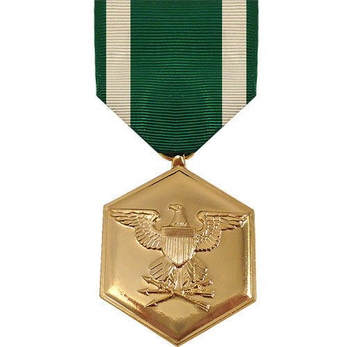 Full Size Medal: Navy and Marine Corps Commendation - 24k Gold Plated