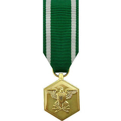 Miniature Medal- 24k Gold Plated: Navy and Marine Corps Commendation