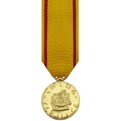 Miniature Medal- 24k Gold Plated: China Service Navy