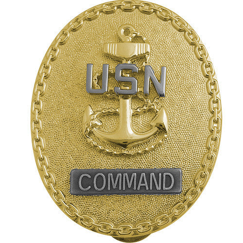 Navy ID Badge: Enlisted Advisor E7 Command CPO - regulation size