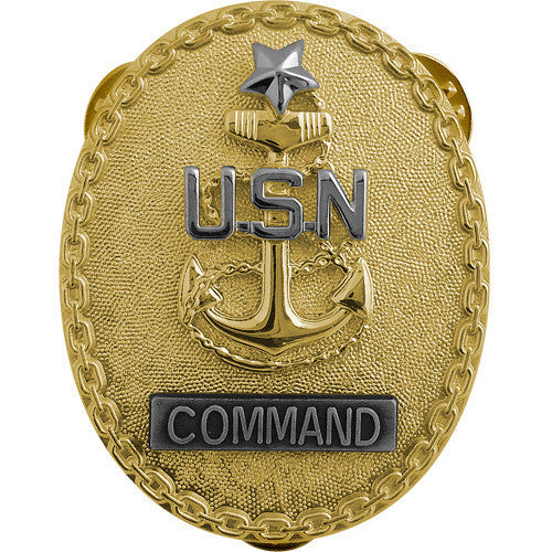 Navy ID Badge: Senior Enlisted Advisor E8 Command CPO - regulation size