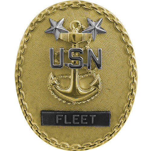Navy Identification Badge: Fleet Master E9 CPO - regulation size