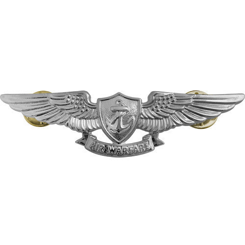 Navy Badge: Aviation Warfare Specialist - regulation size, mirror finish