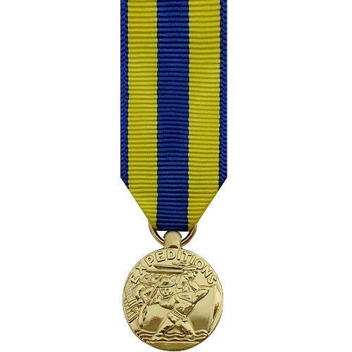 Miniature Medal- 24k Gold Plated: Navy Expeditionary