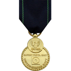 Full Size Medal: Navy Expert Pistol - 24k Gold Plated