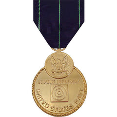 Full Size Medal: Navy Expert Rifle - 24k Gold Plated
