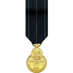 Miniature Medal- 24k Gold Plated: Navy Expert Rifle