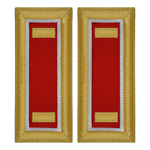Army Shoulder Strap: Second Lieutenant Engineer - female