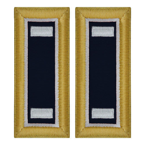 Army Shoulder Strap: First Lieutenant Judge Advocate - female