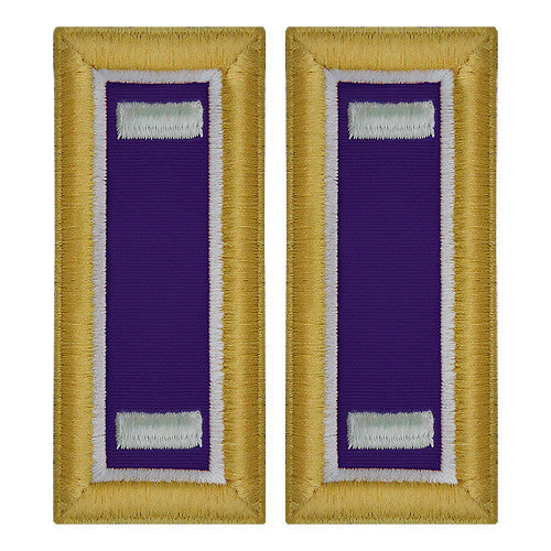 Army Shoulder Strap: First Lieutenant Civil Affairs - female