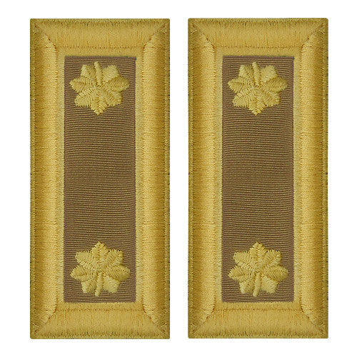 Army Shoulder Strap: Major Quartermaster - female