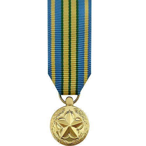 Miniature Medal- 24k Gold Plated: Military Outstanding Volunteer Service