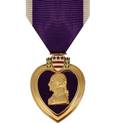 Full Size Medal: Purple Heart - 24k Gold Plated