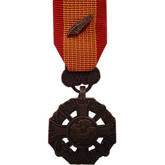 Miniature Medal: Vietnam Gallantry Cross Armed Forces with Palm Attachment
