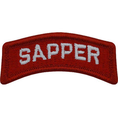 Army Embroidered Tab: Sapper - color