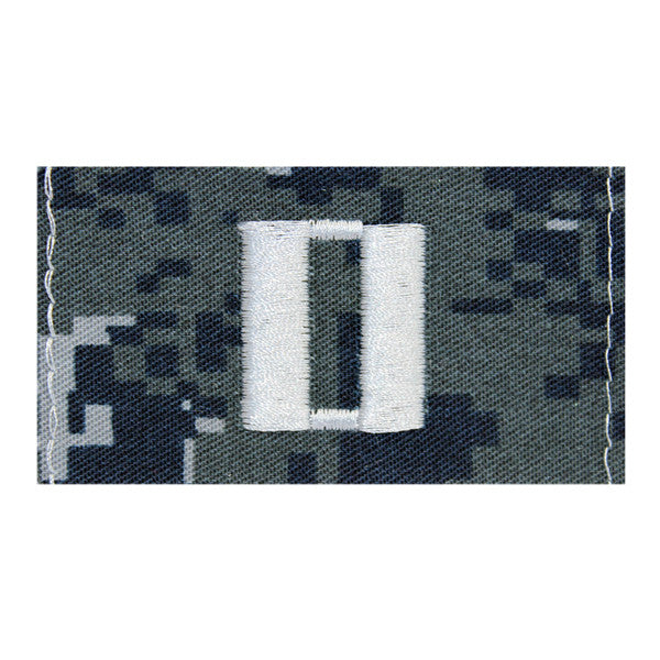 Lieutenant  (Lt) Collar Device on Blue Digital Embroidered
