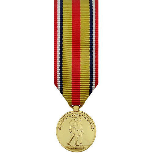 Miniature Medal- 24k Gold Plated: Selected Marine Corps Reserve