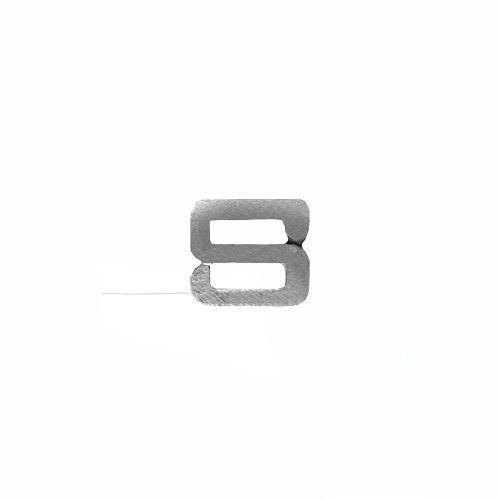 NO PRONG Ribbon Attachments: Letter S - silver