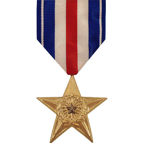 Full Size Medal: Silver Star - anodized